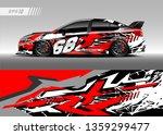 racing car decal design vector. ... | Shutterstock .eps vector #1359299477