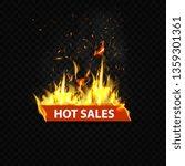 hot sales  flaming web banner ... | Shutterstock .eps vector #1359301361