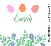 decorative easter eggs and... | Shutterstock .eps vector #1359311057
