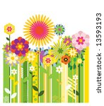 flower wallpaper | Shutterstock .eps vector #13593193