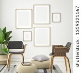 living room interior wall mock...   Shutterstock . vector #1359321167