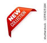 red vector banner ribbon on... | Shutterstock .eps vector #1359325184