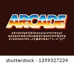 80s retro futurism arcade game...   Shutterstock .eps vector #1359327224