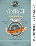 vintage retro page template for ... | Shutterstock . vector #135932777