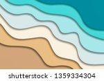 abstract blue sea and beach... | Shutterstock . vector #1359334304