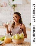 healthy diet. beautiful young... | Shutterstock . vector #1359356201