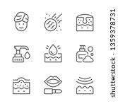 set line icons of skin care | Shutterstock .eps vector #1359378731