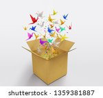 origami birds abstract concept... | Shutterstock . vector #1359381887