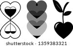three black and gray icons in... | Shutterstock .eps vector #1359383321