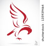Vector Of Eagle Design On Whit...