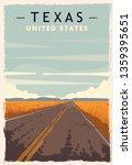 Texas Retro Poster. Usa Texas ...