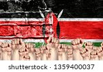 male hands clenched in a fist... | Shutterstock . vector #1359400037