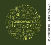 zero waste lifestyle vector... | Shutterstock .eps vector #1359403124