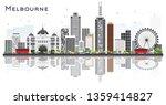 melbourne australia city...   Shutterstock .eps vector #1359414827