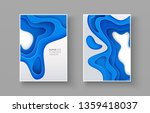 set of 3d paper cut style... | Shutterstock .eps vector #1359418037