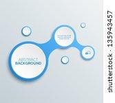 3d abstract business concept | Shutterstock .eps vector #135943457
