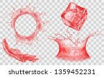translucent ice cube  splash... | Shutterstock .eps vector #1359452231