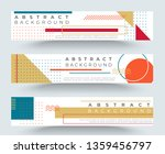 abstract retro horizontal... | Shutterstock .eps vector #1359456797