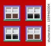 purple  green and white windows ... | Shutterstock . vector #1359460304