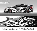 race car wrap design vector.... | Shutterstock .eps vector #1359466544
