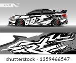 race car wrap design vector.... | Shutterstock .eps vector #1359466547