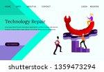 technology repair vector...