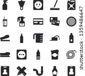 solid vector icon set   pipes...   Shutterstock .eps vector #1359486647