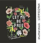 let me be free slogan with... | Shutterstock .eps vector #1359502964
