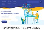distance learning system vector ...