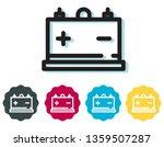 car battery icon   illustration ... | Shutterstock .eps vector #1359507287
