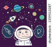 astronaut. spaceman in space on ...   Shutterstock .eps vector #1359513287
