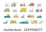 sketch set with cute cars and... | Shutterstock .eps vector #1359538277