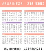 collection of vector line icons ... | Shutterstock .eps vector #1359564251