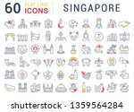 set of vector line icons of... | Shutterstock .eps vector #1359564284