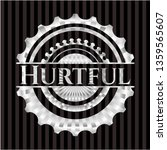hurtful silver shiny badge | Shutterstock .eps vector #1359565607