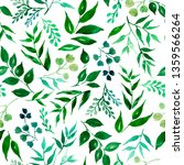 seamless pattern of green... | Shutterstock . vector #1359566264