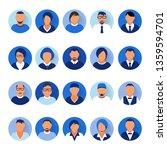 flat modern blue minimal avatar ... | Shutterstock .eps vector #1359594701