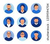 flat modern blue minimal avatar ... | Shutterstock .eps vector #1359594704