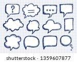 blank empty speech bubbles for...   Shutterstock .eps vector #1359607877