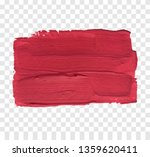 red paint brush vector texture. ... | Shutterstock .eps vector #1359620411