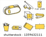 set of school equipment doodle... | Shutterstock .eps vector #1359632111