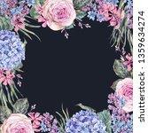 watercolor vintage floral... | Shutterstock . vector #1359634274