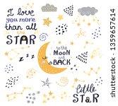 vector set of night lettering...   Shutterstock .eps vector #1359657614