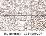 coffee cups  beans  mugs ... | Shutterstock .eps vector #1359659207