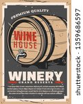 winery retro poster of wine... | Shutterstock .eps vector #1359686597