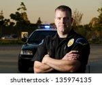 A K9 Police Officer Standing I...