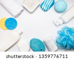 composition with towel and bath ...   Shutterstock . vector #1359776711