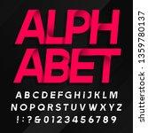 abstract alphabet font. modern... | Shutterstock .eps vector #1359780137