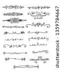 hand drawn vector dividers  set ... | Shutterstock .eps vector #1359784667