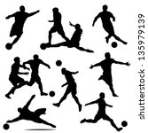 athlete,champions,clip art,football,isolated,kicking,male,match,players,score,shooting,silhouettes,soccer,soccer ball,sports